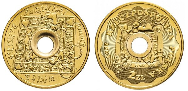 2 злотых. Польша. Памятная монета. 2003 год. Латунь