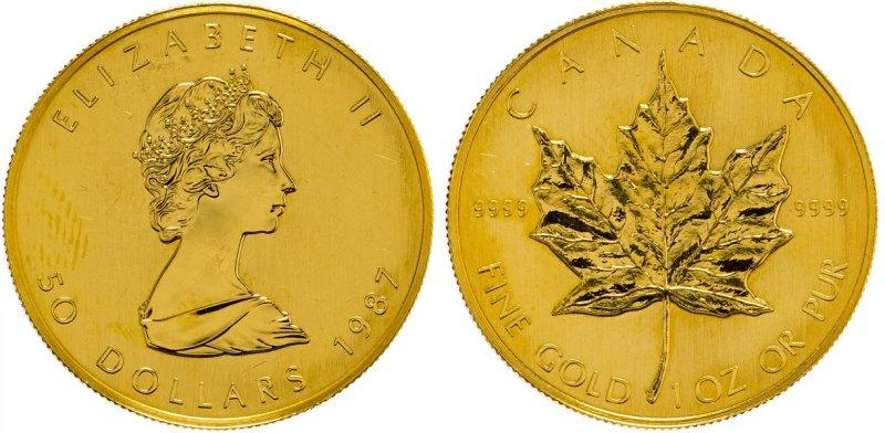 Канада. 50 долларов 1987 года