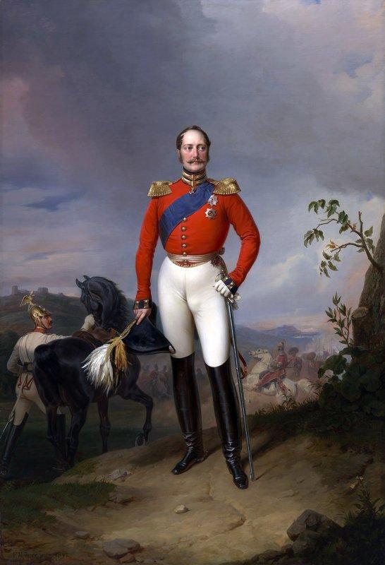 Николай I, Император России (1796-1855). Худ. Франц Крюгер. Россия. 1847. Холст, масло