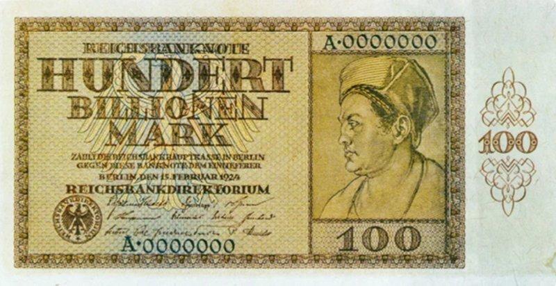 100 триллионов марок, Веймарская республика, 1923 год