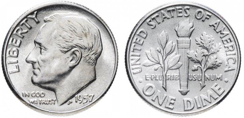 10 центов 1957
