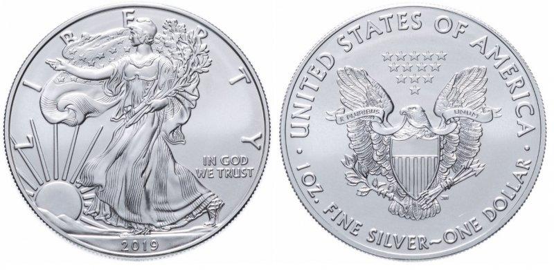 1 доллар 2019