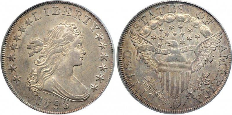 1 доллар 1798