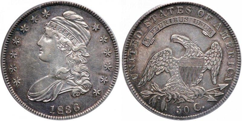 50 центов 1836