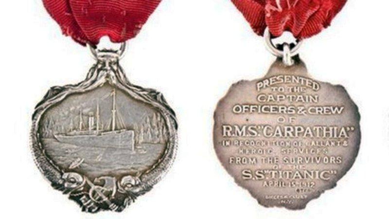Медаль «Карпатия». За спасение выживших с «Титаника», 1912 год