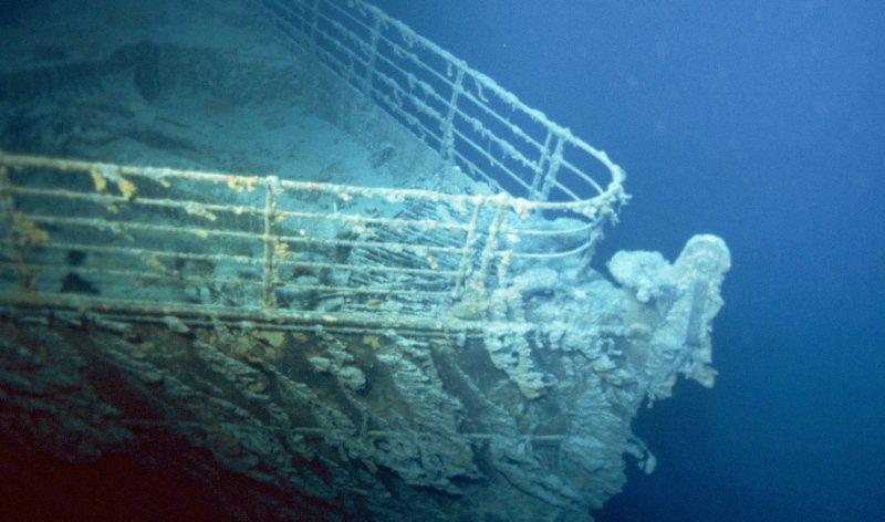 Фото корабля, сделанное во время экспедиции компании RMS Titanic, 2004 год