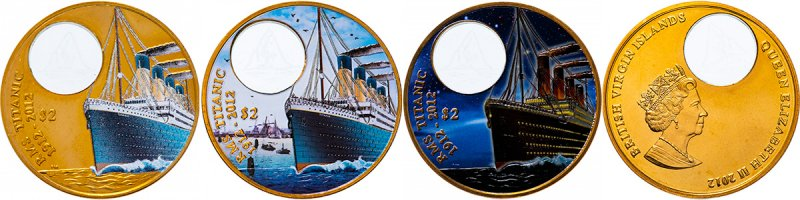 2 доллара серии «100 лет гибели «Титаника»», три варианта реверса, 2012 год