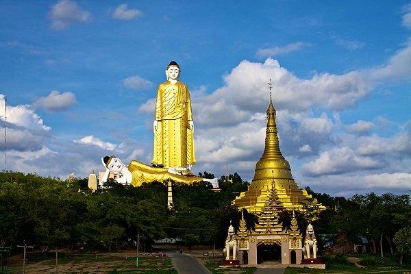 Самая большая в мире статуя Будды (116 м, 130 м с постаментом). Мьянма. Годы постройки: 1996-2008 гг.
