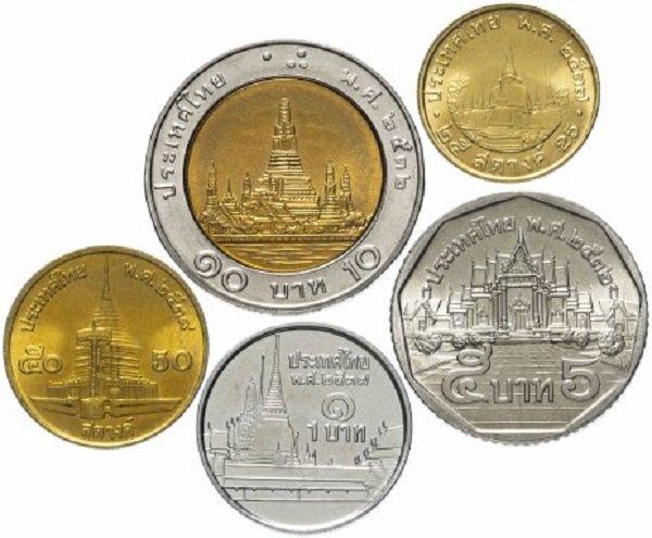 Буддийские храмы и ступы (хранилища святынь) на монетах Таиланда. 1989-1995 гг.
