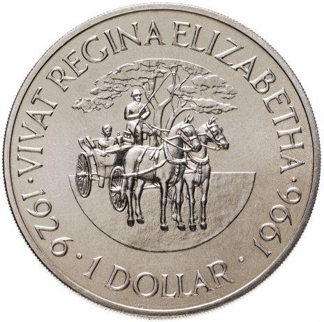 """купить Бермудские Острова 1 доллар (dollar) 1996 """"70 лет со дня рождения Королевы Елизаветы II"""""""