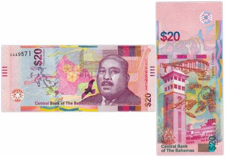 купить Багамские острова 20 долларов 2018 (Pick 80)