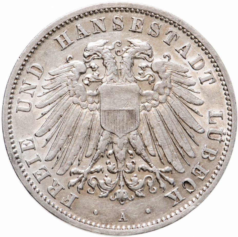 купить Германская Империя, Любек 3 марки (mark) 1910 А