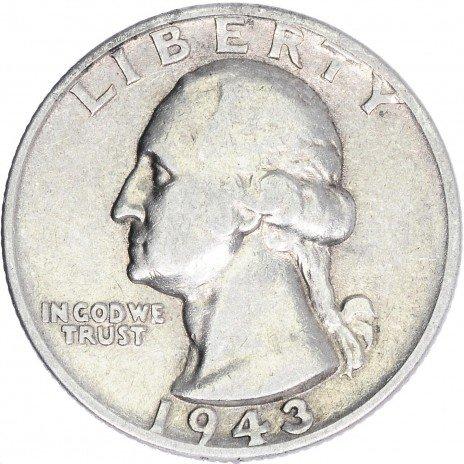 купить США 25 центов (квотер) 1943