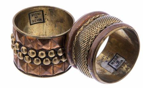 купить Набор из двух колец для салфеток (в подборе), металл, Индия 1970-1990 гг.