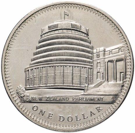 """купить Новая Зеландия 1 доллар 1978 """"25 лет коронации Елизаветы II"""""""