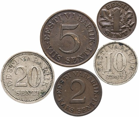 купить Эстония набор из 5 монет 1929-1935