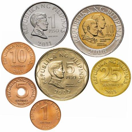 купить Филиппины набор монет 1995-2013 (7 шт.)