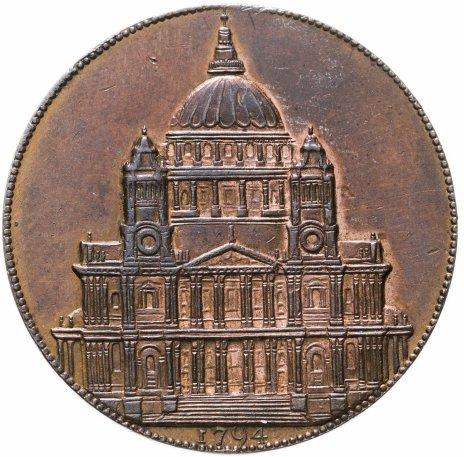 """купить Великобритания, Лондон 1 пенни (penny) 1794 """"Г. Янг - монетный дилер"""" платежный жетон / токен"""