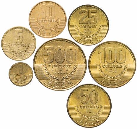 купить Коста-Рика набор из 7 монет 1995-2006