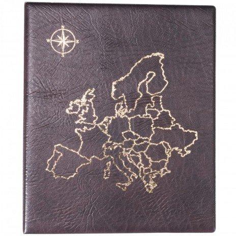 """купить Папка на кольцах формата OPTIMA """"Европа"""", коричневая"""