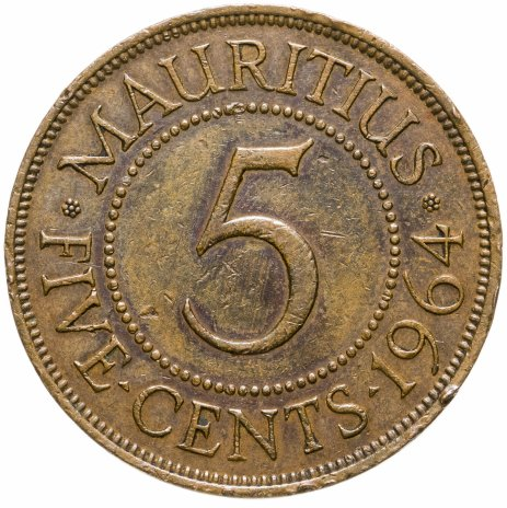 купить Маврикий 5 центов (cents) 1964