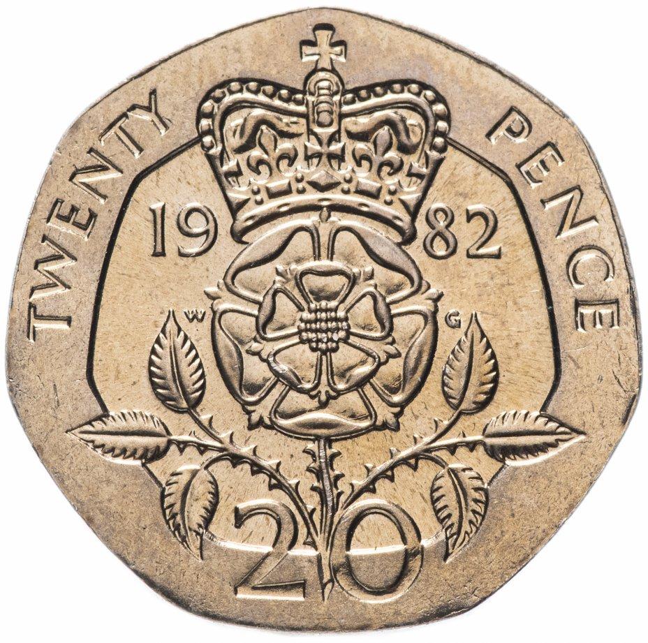 купить Великобритания 20 пенсов 1982