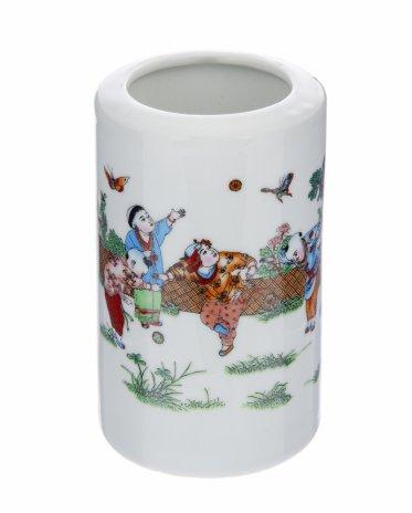 """купить Ваза """"Дети с бабочками"""", фарфор, деколь, Китай, 1960-1980 гг."""