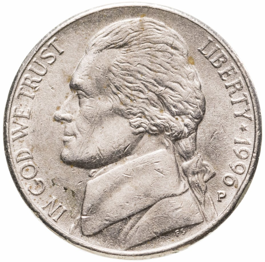купить США 5 центов (cents) 1990-1996 (случайный год)