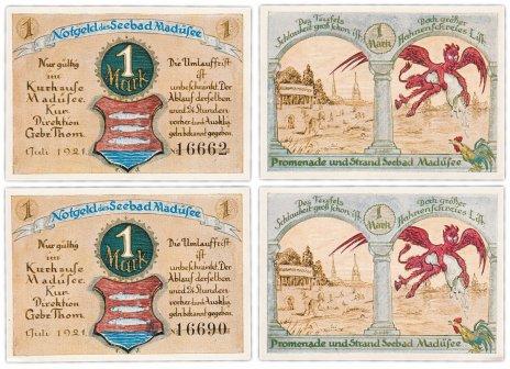 купить Германия (Силезия:  Мадюзее) набор из 2-х нотгельдов 1921