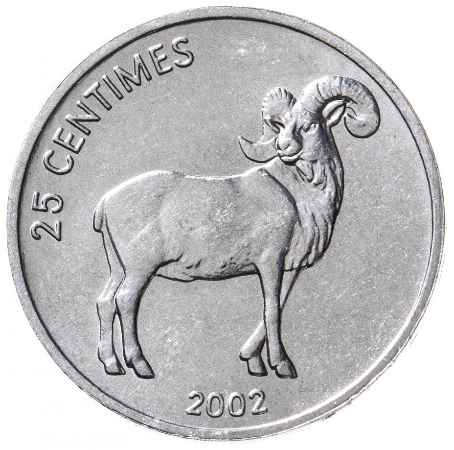 купить 25 сантимов (centimes) 2002   Животные - Коза  Конго (ДРК)