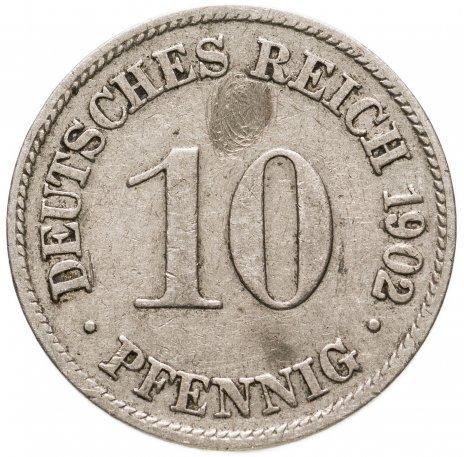 """купить Германия 10 пфеннигов 1902 """"D"""""""