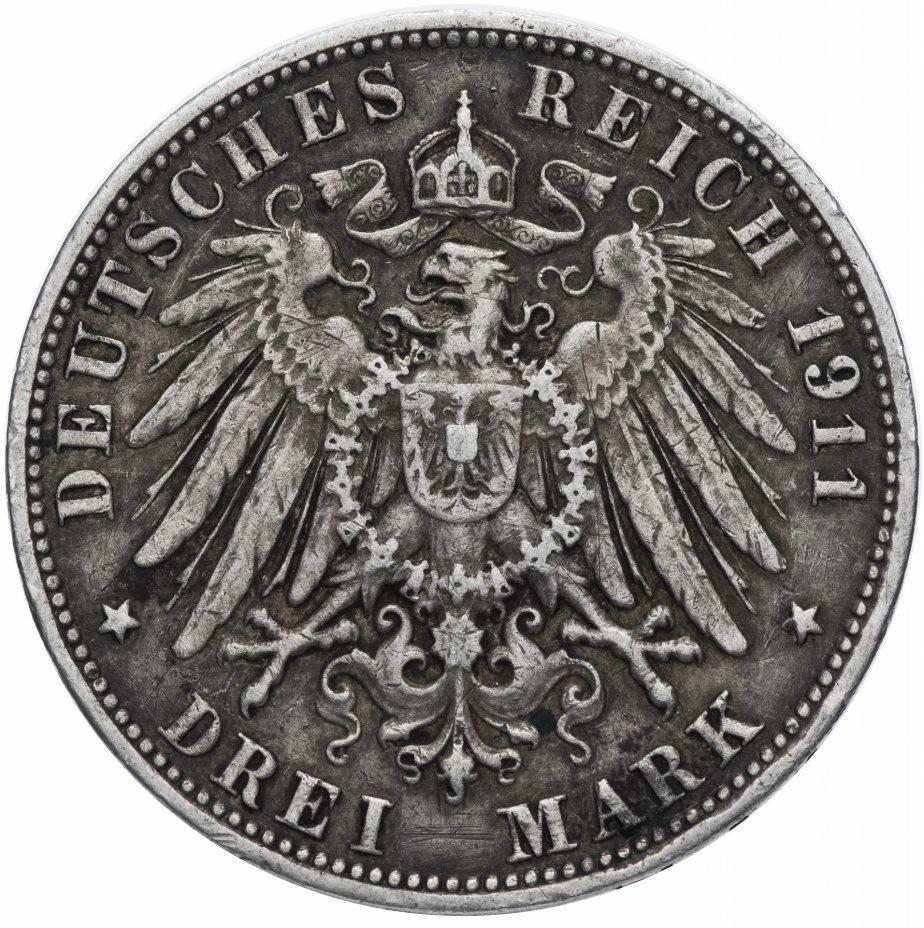 купить Германия (Империя, Гамбург) 3 марки (mark) 1911