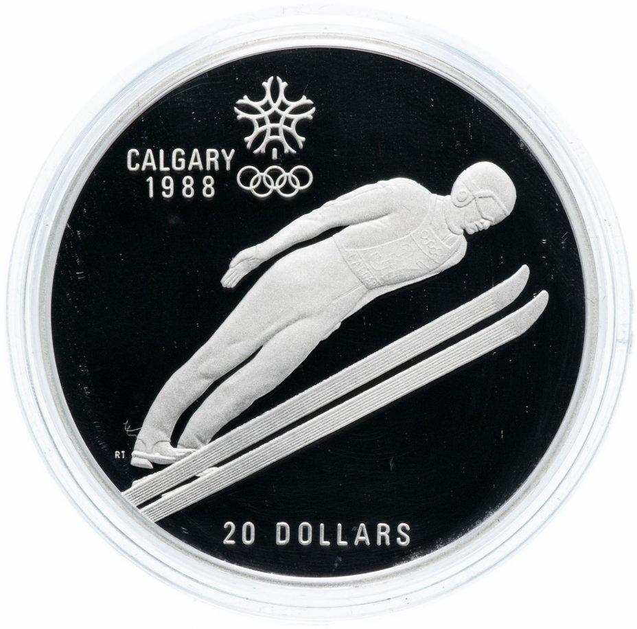 """купить Канада 20 долларов (dollars) 1987 """"XV зимние Олимпийские Игры, Калгари 1988 - Прыжки на лыжах с трамплина"""""""