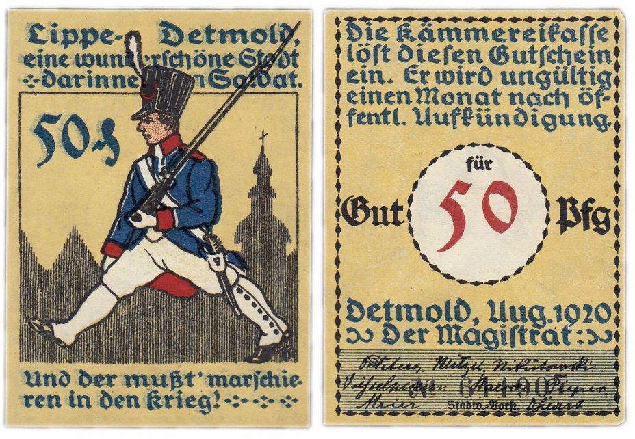 купить Германия (Липпе-Детмольд: Детмольд) 50 пфеннигов 1920 (268/B1)