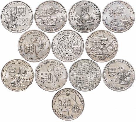 купить Португалия набор из 12 монет 200 эскудо 1992-2000