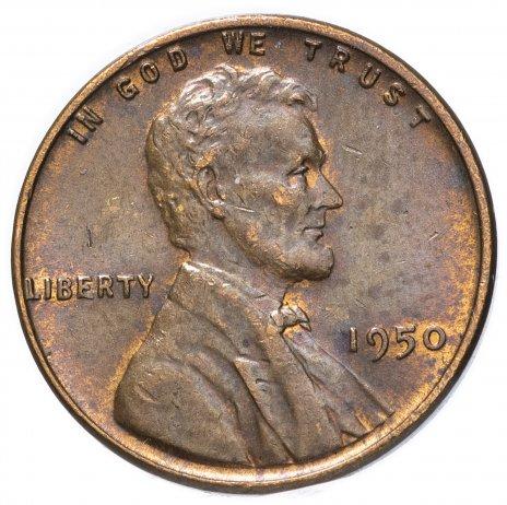 купить США 1 цент 1950 без отметки монетного двора
