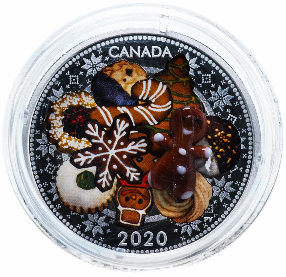 """купить Канада 20 долларов 2020 """"Праздничное печенье"""", в коробке с сертификатом"""