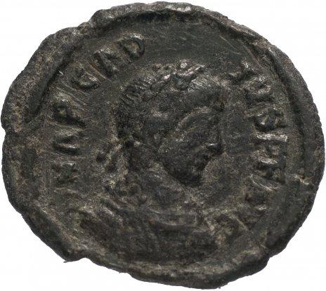 купить Римская Империя Аркадий 395–408 гг 4 денария (реверс: император идет вправо, волочит за волосы пленника)