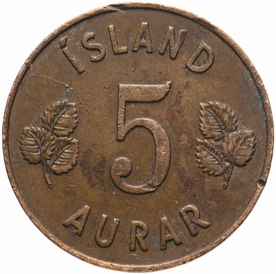 купить Исландия 5 эйре (aurar) 1946