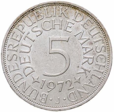 """купить Германия 5 марок (mark) 1972 J  знак монетного двора: """"J"""" - Гамбург"""