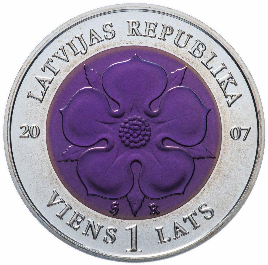 """купить Латвия 1 лат (lats) 2007 """"Монета времени II"""" в футляре с сертификатом"""