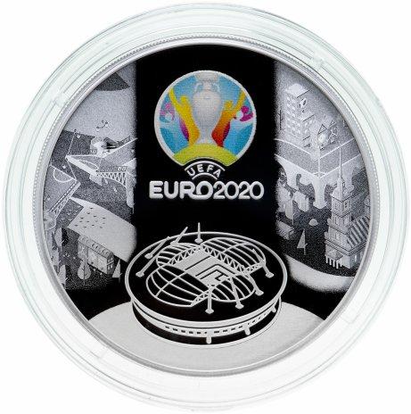 купить 3 рубля 2021 Proof УЕФА Чемпионат Европы по футболу 2020 (кубок UEFA EURO-2020)
