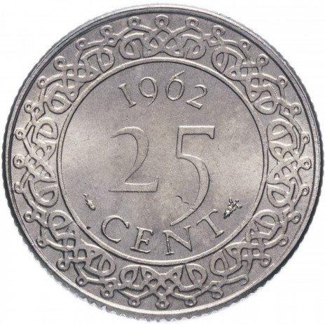 купить Суринам 25 центов 1962
