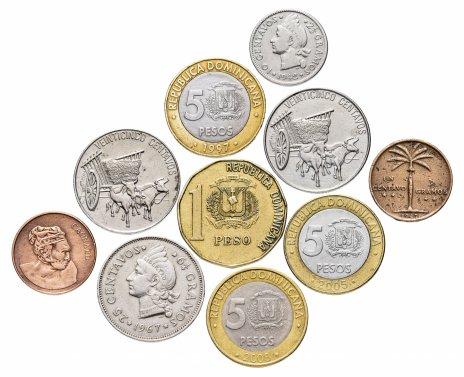 купить Доминикана набор из 10 монет 1942-2008
