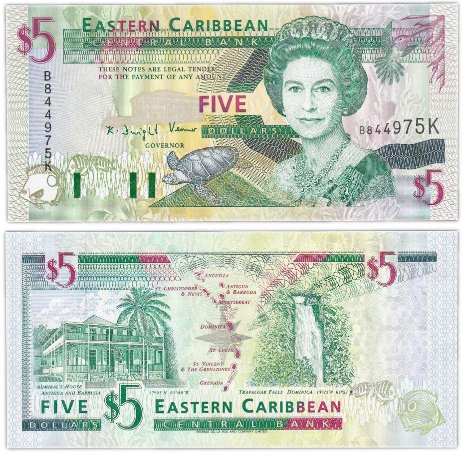 купить Восточные Карибы 5 долларов 1994 (Pick 31k) St.Kitts