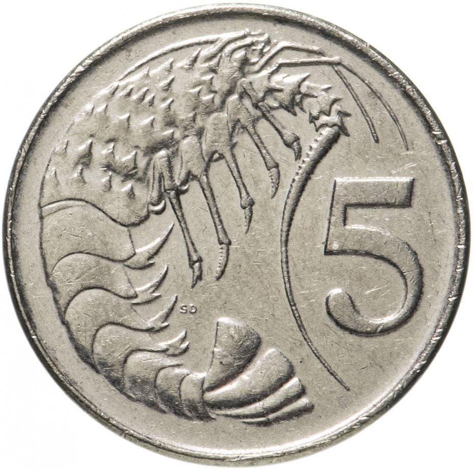 купить Каймановы острова 5 центов (cents) 1992-1996, случайная дата