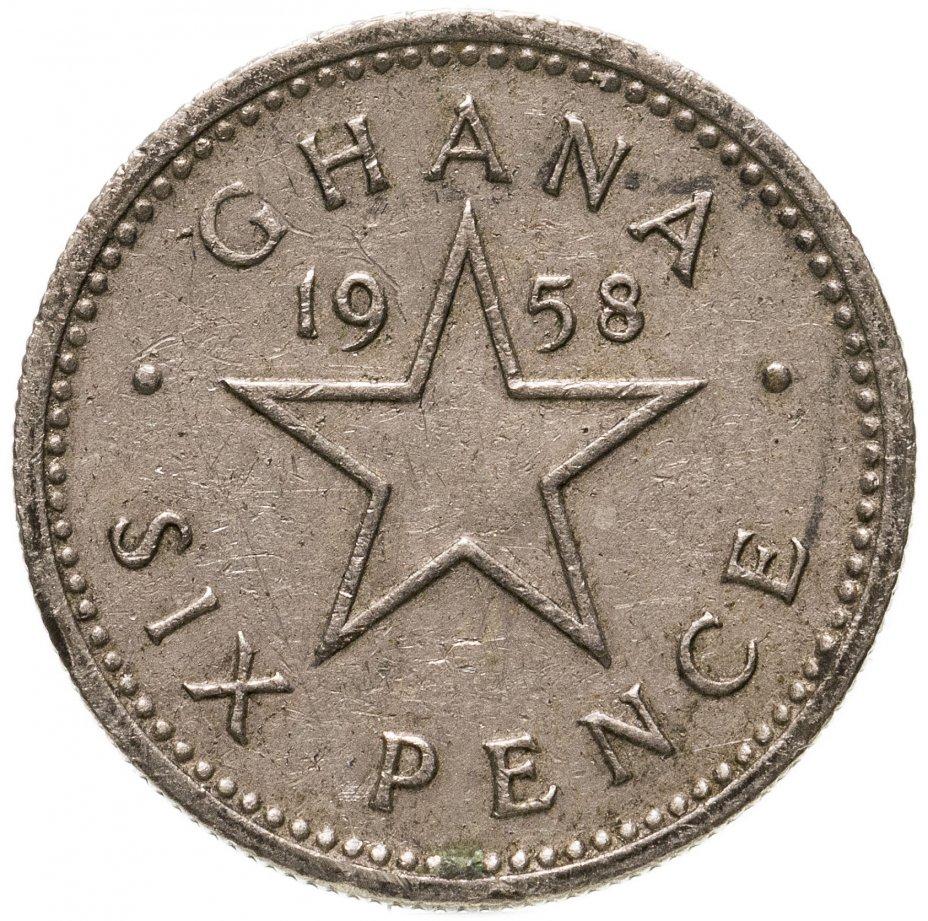 купить Гана 6 пенсов (pence) 1958