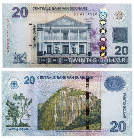 купить Суринам 20 долларов 2010 (Pick 164a)