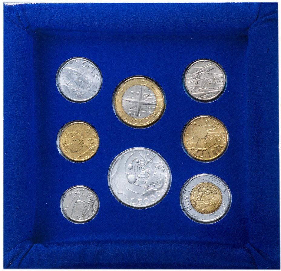 """купить Сан-Марино годовой набор из 8-ми монет серии """"Космос"""" 1999"""
