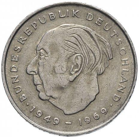 """купить Германия 2 марки 1970-1987 """"Теодор Хойс, 20 лет Федеративной Республике (1949-1969)"""""""